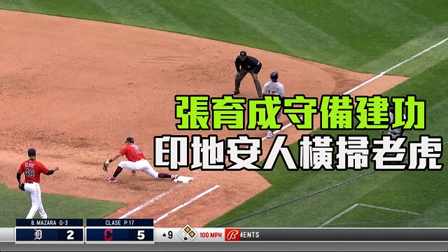 【MLB看愛爾達】張育成守備建功 印地安人橫掃老虎 04/12