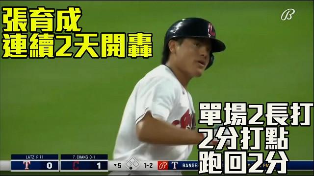 【MLB看愛爾達】張育成連二天開轟 單場二長打二打點 08/26