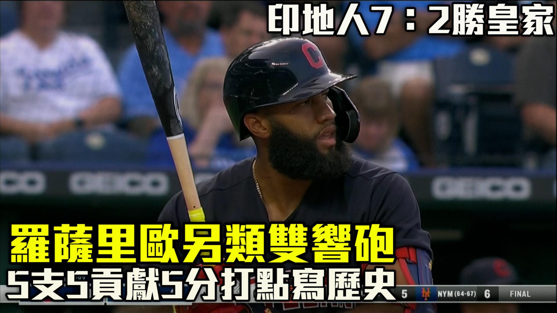 【MLB看愛爾達】羅薩里歐另類雙響砲 印人7:2勝皇家 09/01