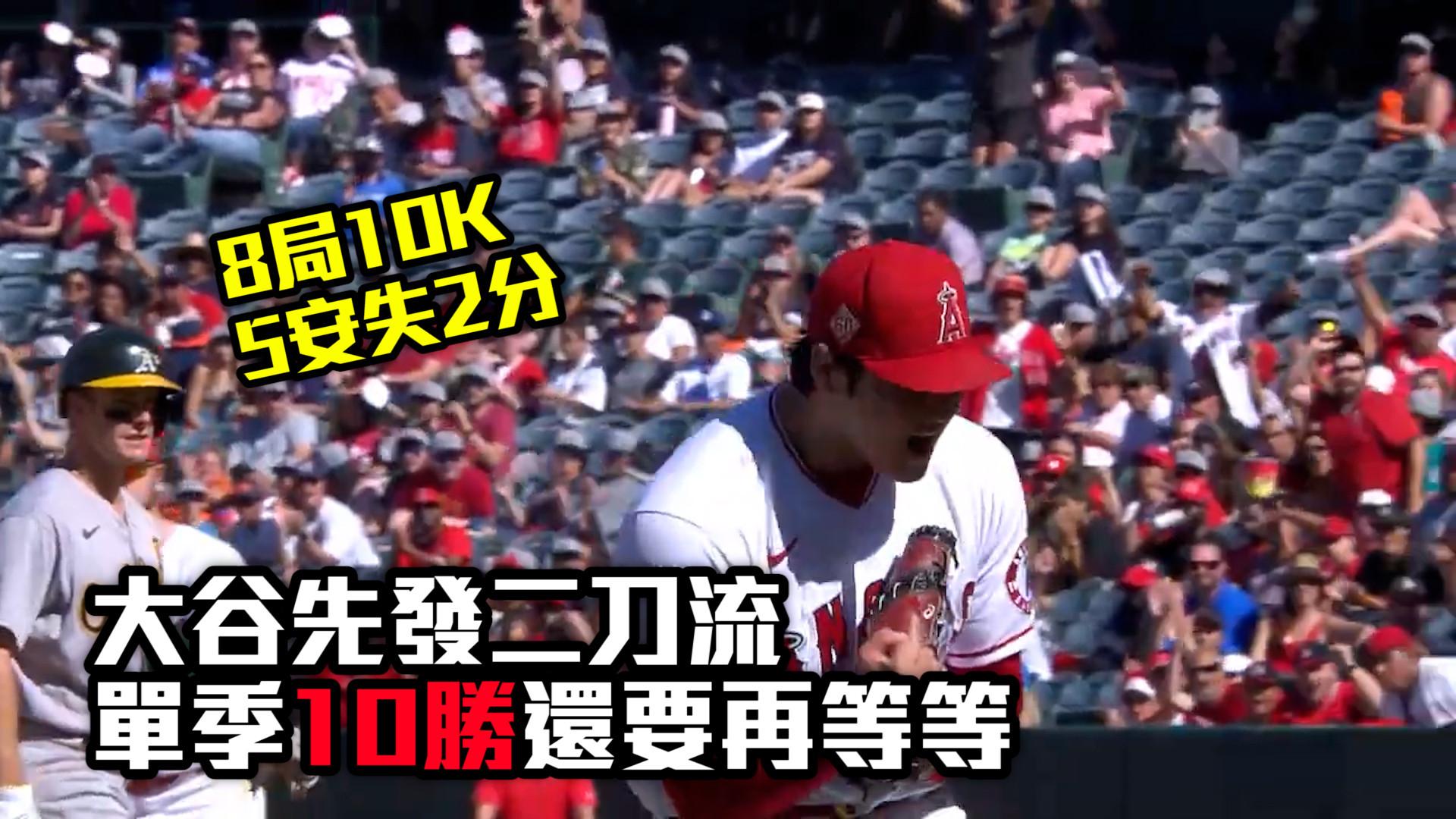 【MLB看愛爾達】大谷二刀流8局飆10K 單季十勝還要再等 9/20