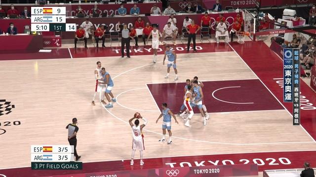 0729籃球_男子預賽_西班牙VS阿根廷