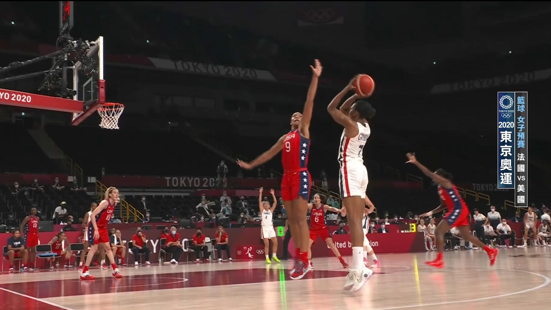 0802籃球_女子預賽_法國VS美國