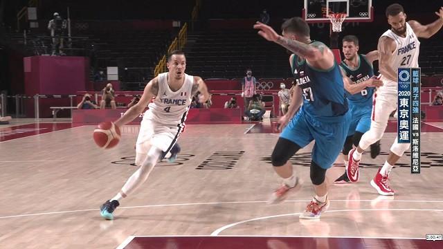 0805籃球_男子四強_斯洛維尼亞VS法國