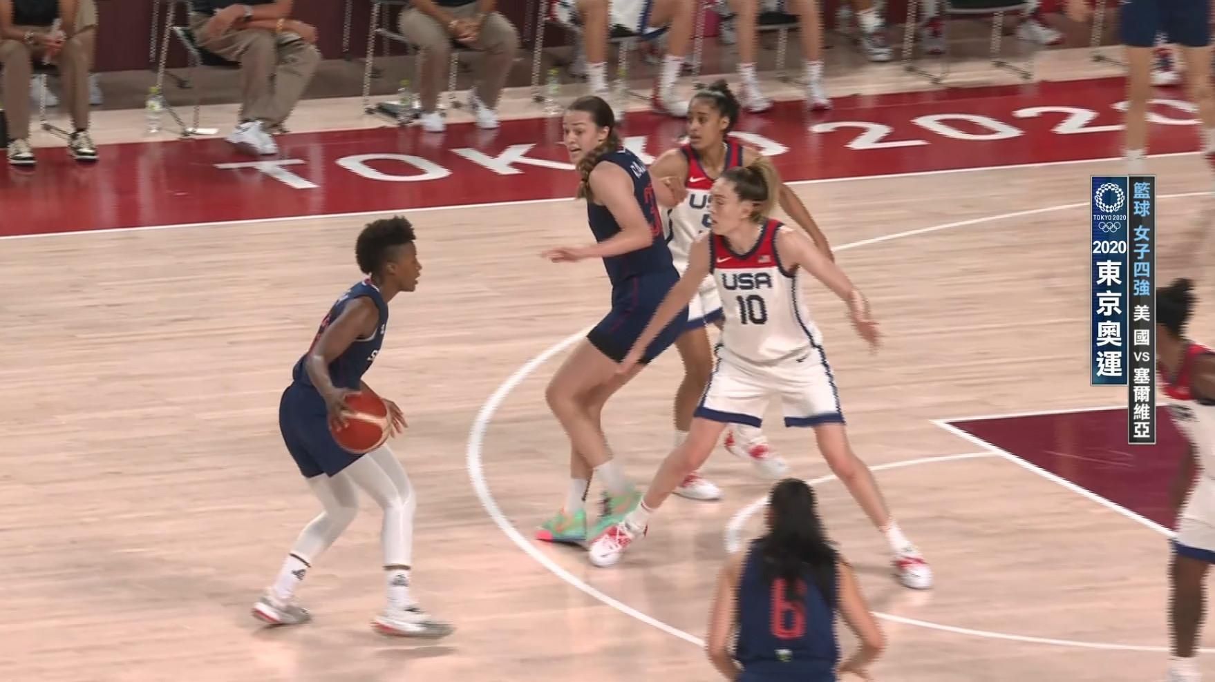 0806籃球_女子四強_美國VS塞爾維亞