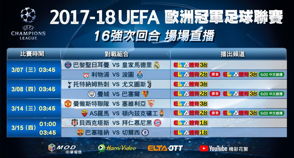 歐冠16強淘汰賽